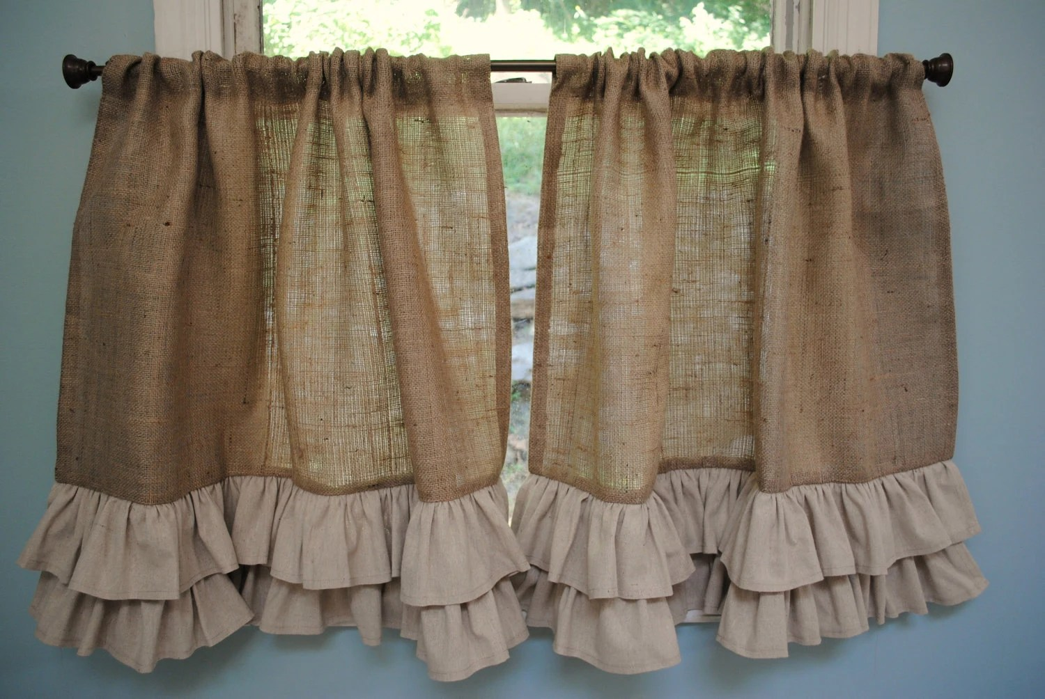 Homemade Country Kitchen Curtains