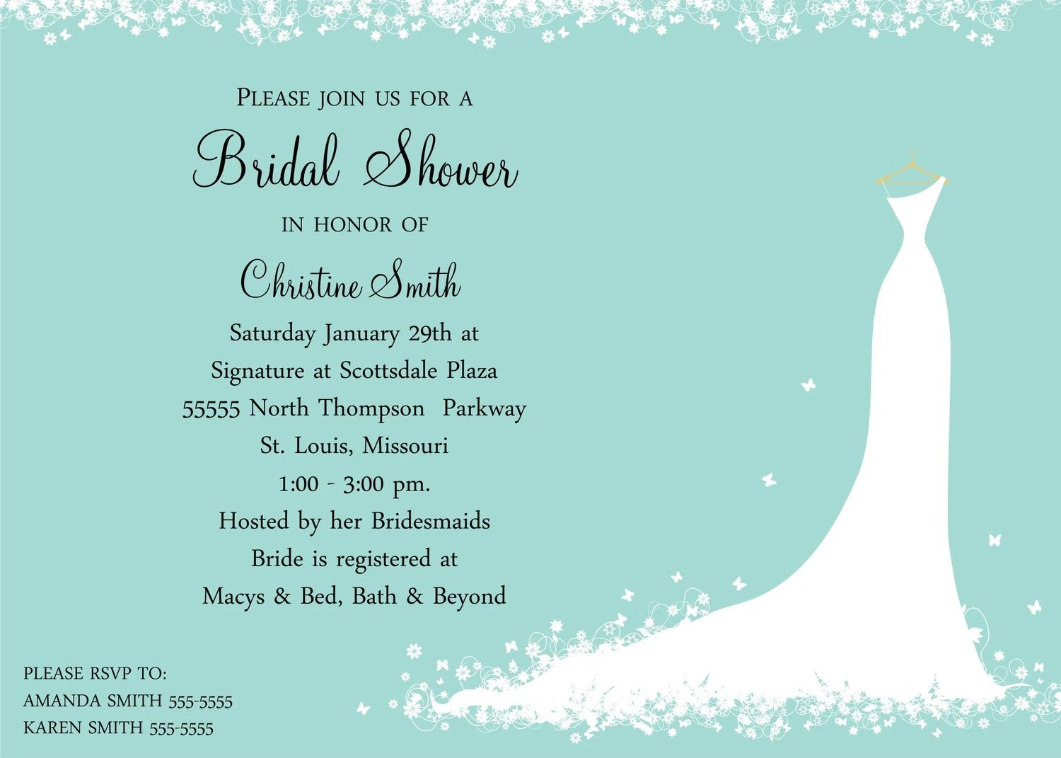 Custom Invitations Bridal Shower