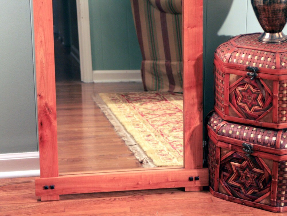 Rustic Cherry Full Length or Floor Mirror by natureinspiredcrafts