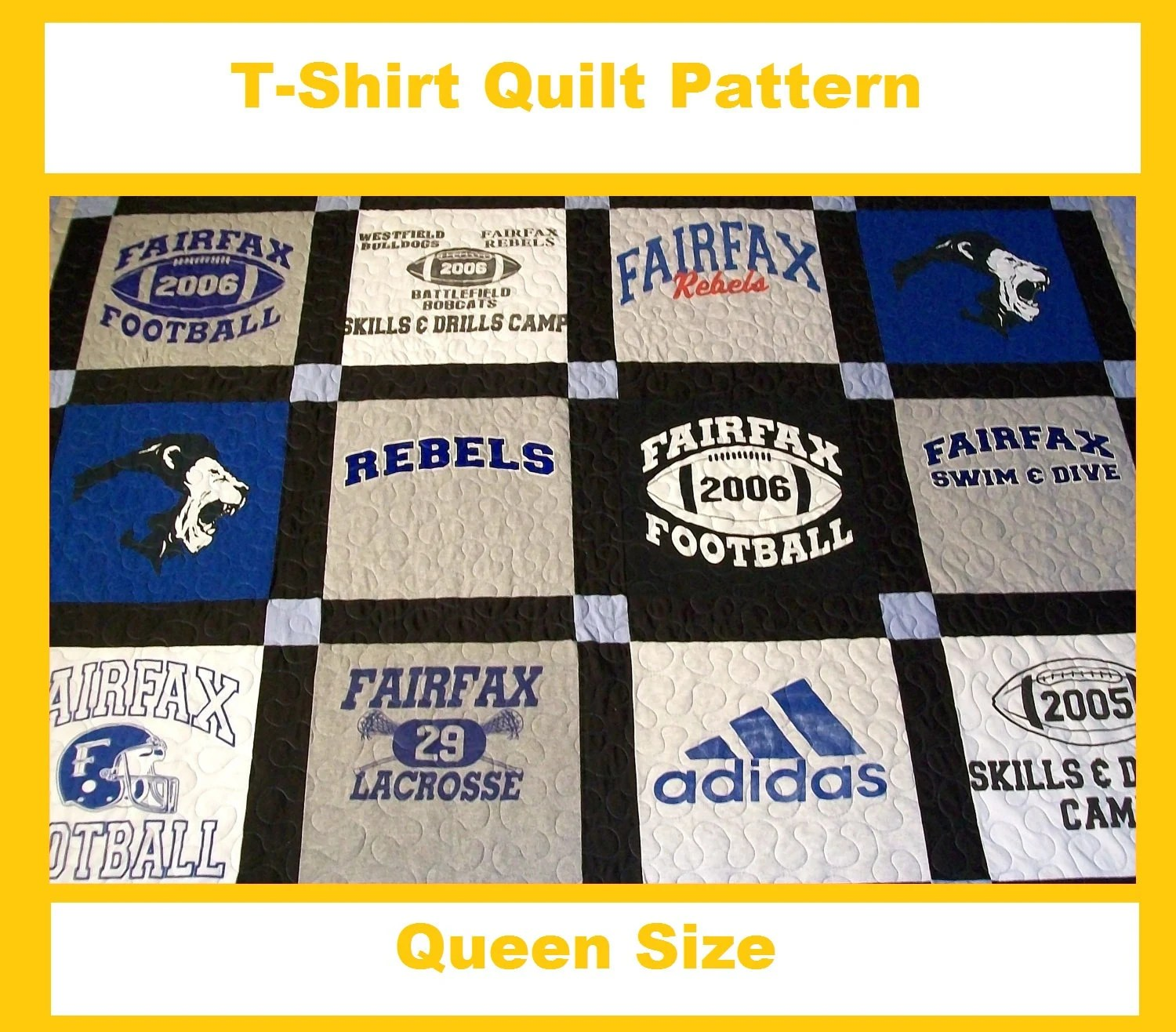T Shirt Quilt Queen Size