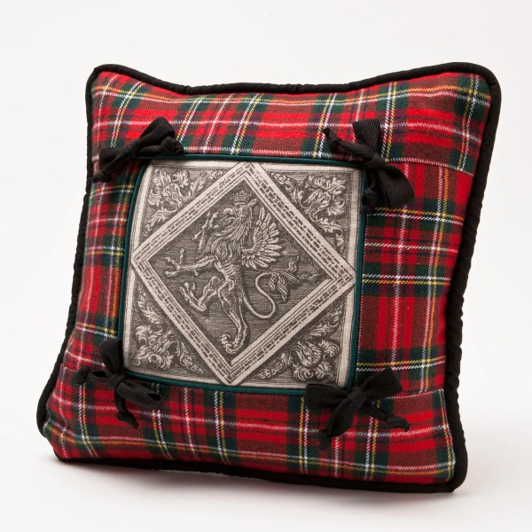 Tartan Red Stuart Plaid Pillow Cover With Dianetubbdesign