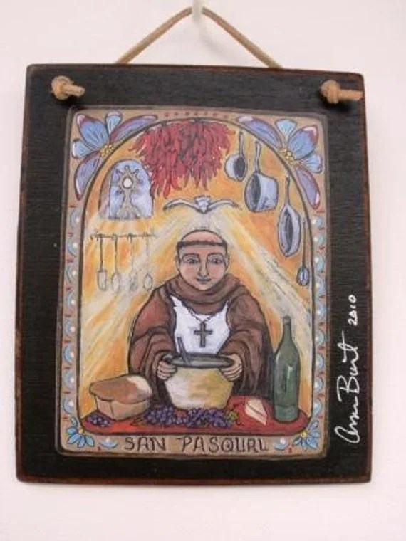 SAN PASQUAL RETABLO PRINT patron of cooks and by Art4thesoul