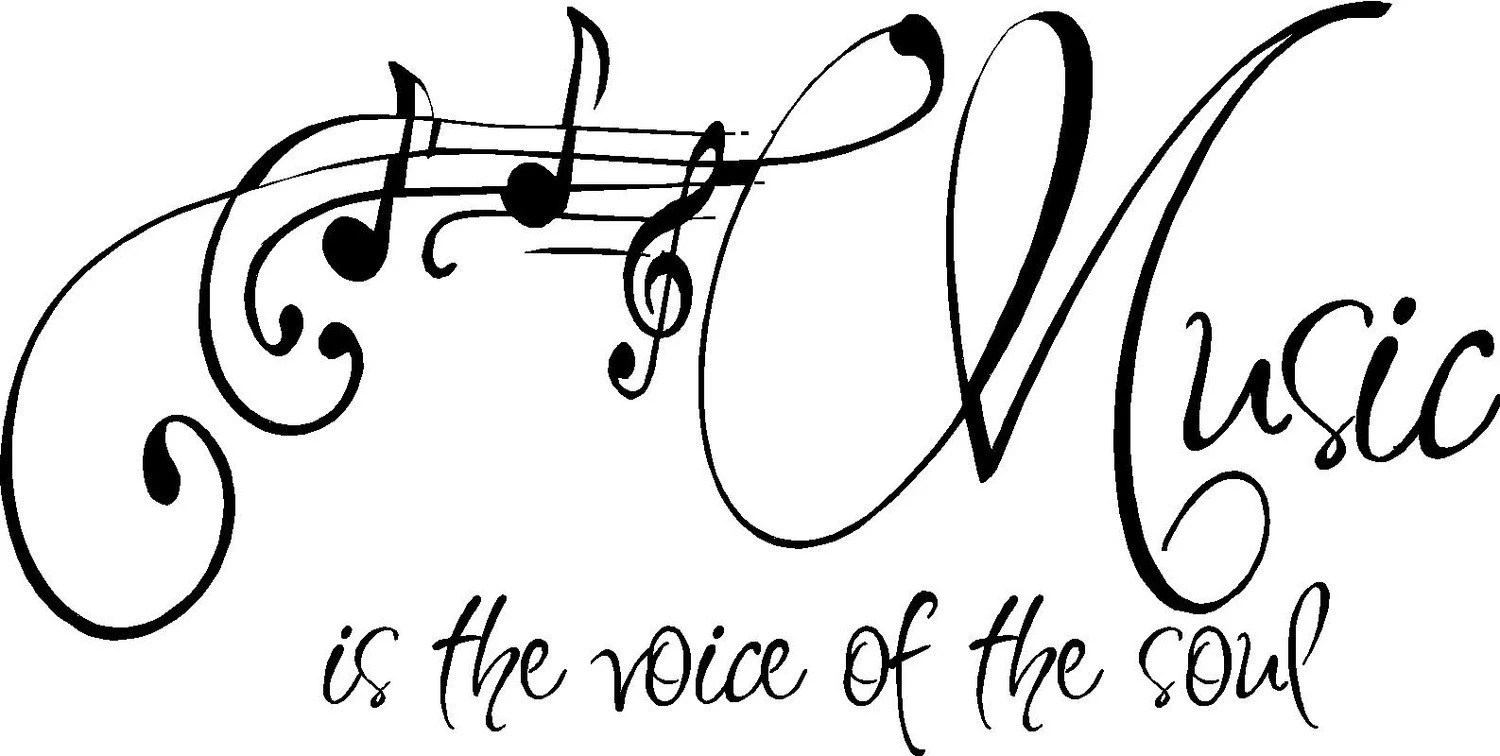Items similar to QUOTE-Music is the voice of the soul