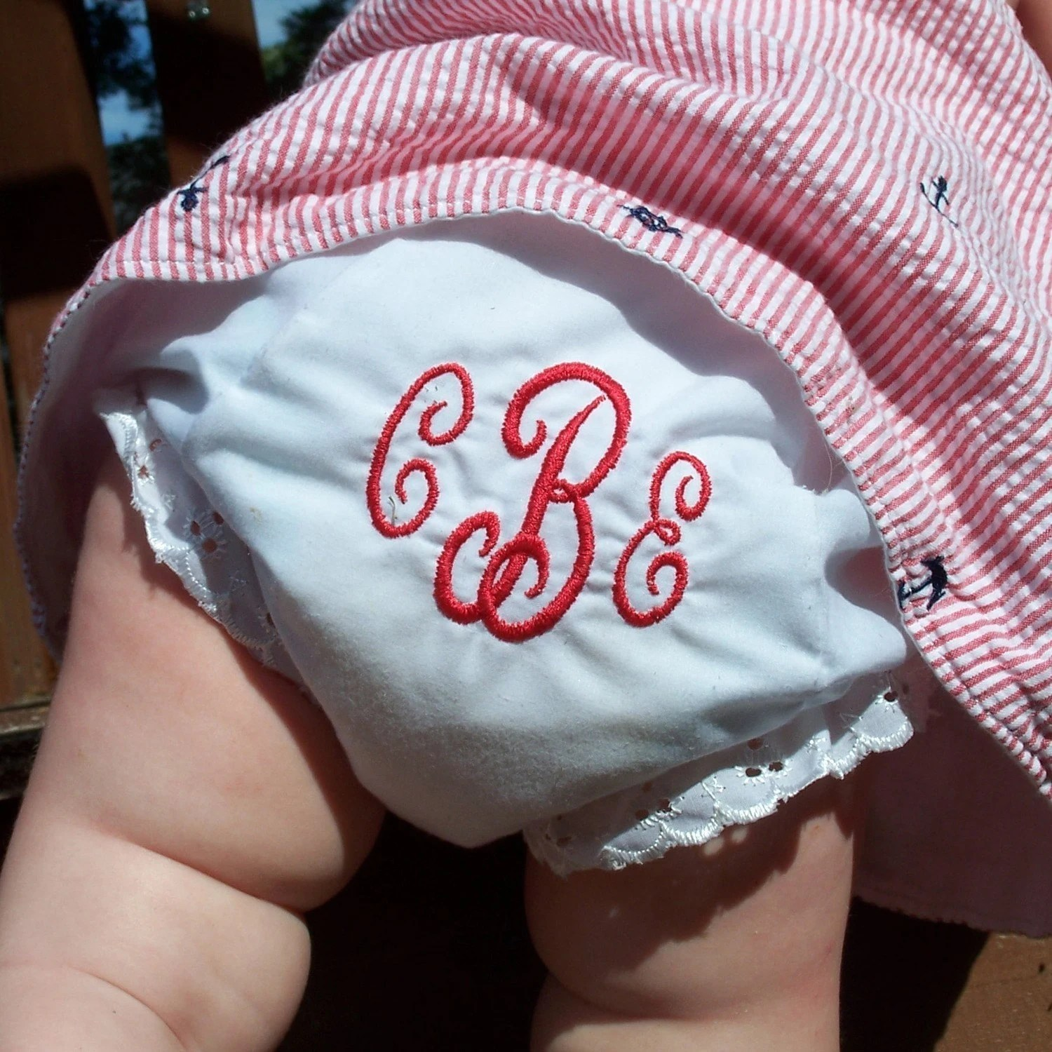 Monogrammed Diaper Cover  Personalized Baby Bloomers