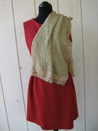 Vintage Beaded Sheer Gold Wrap Shawl