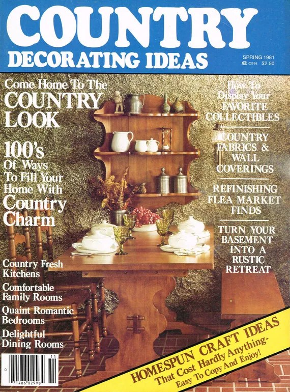 Items similar to Country Decorating Ideas Magazine  Spring 1981 on Etsy