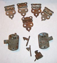 Vintage Hoosier Style Cabinet Hinges and Latches by