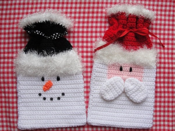 HolidayChristmas Gift Bags Crochet Pattern