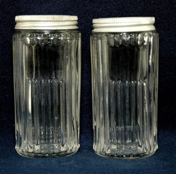 Vintage Hoosier Spice Glass Jars Set Of 2