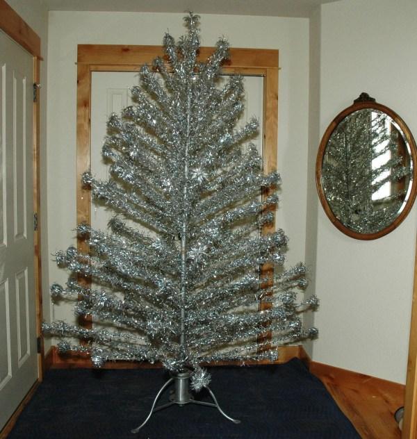 Aluminum Christmas Tree With Vintage Metal Myheirloomcharms