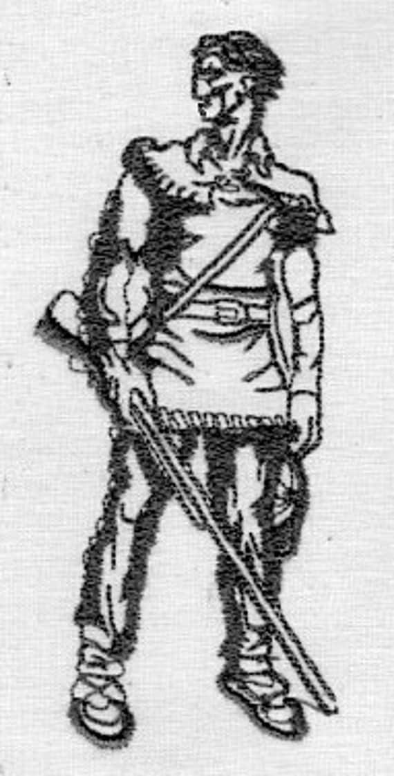 WEST VIRGINIA UNIVERSITY, Mountaineer man embroidery