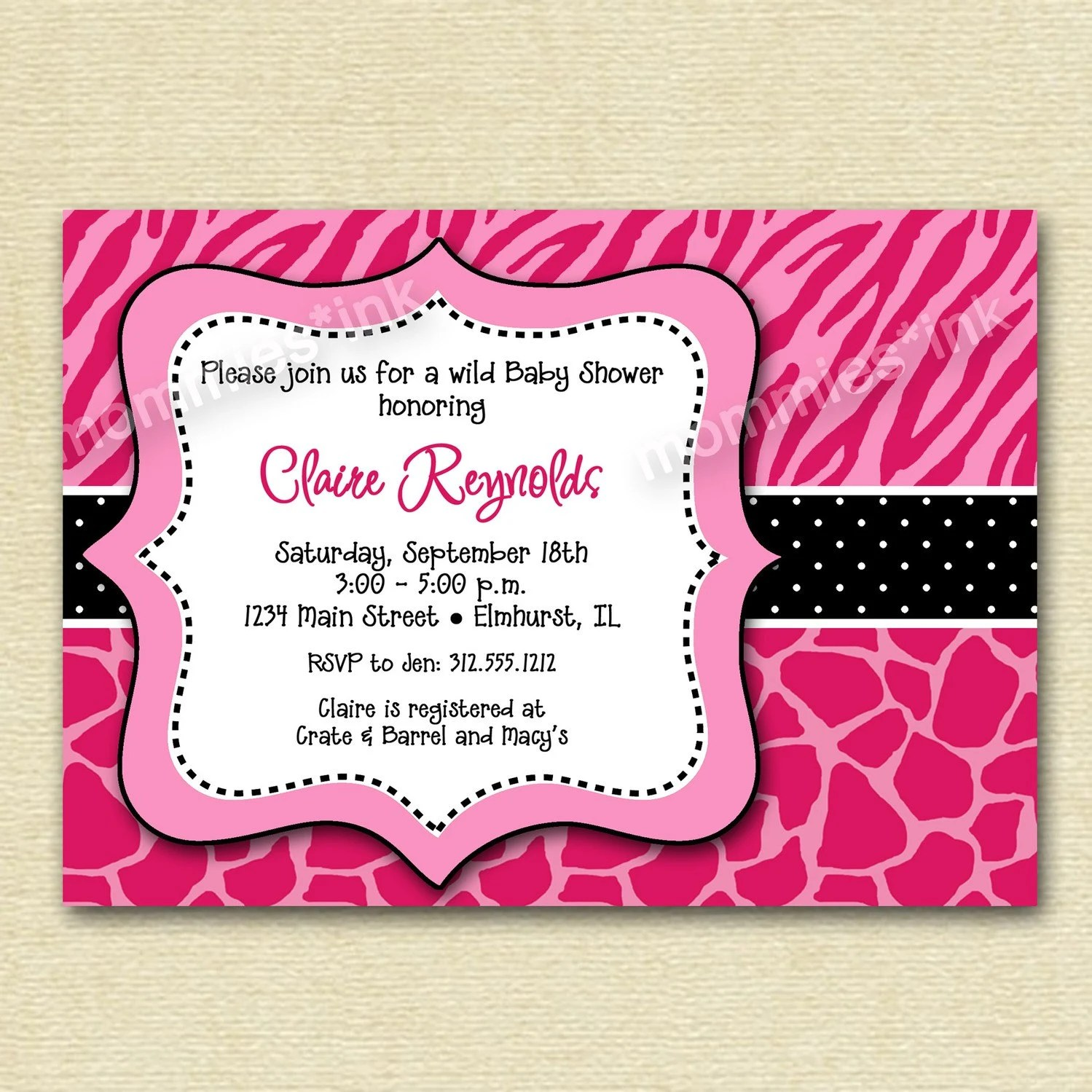 Design And Print Baby Shower Invitations