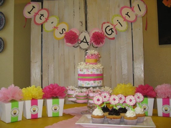 Its A Girl Baby Shower Party Decoration Package Diaper