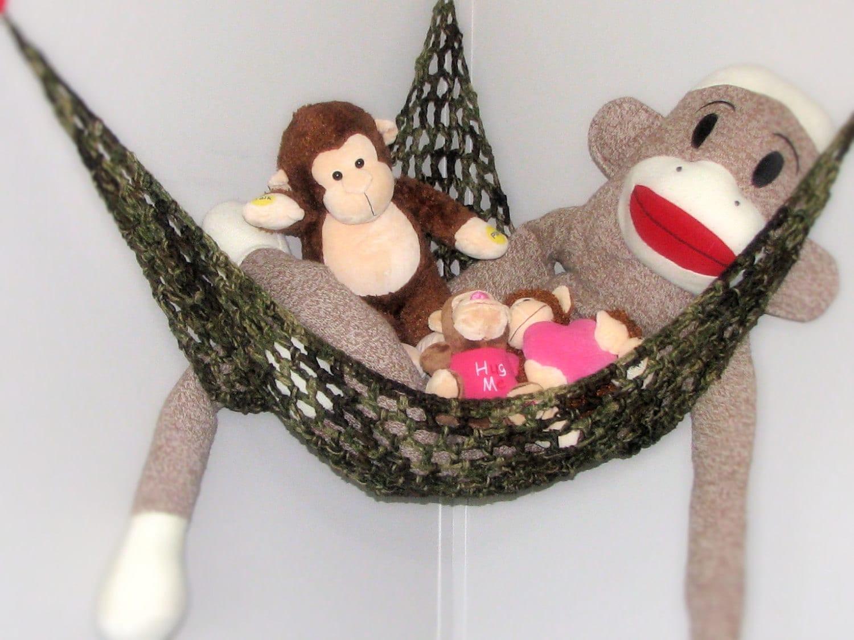 Crocheted Toy Hammock Stuffed Animal Net Nursery And