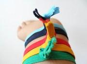 colorful ribbon hair ties girls