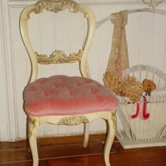 Tufted Desk Chair Folding Shower With Back Vintage French Pink Velvet Boudoir By Rustyrosepetals