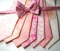 Pink Neckties Neckties Mens Neckties Cotton Neckties