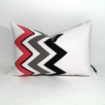 Chevron Pillow Cover Hot Pink Black White Outdoor Mazizmuse