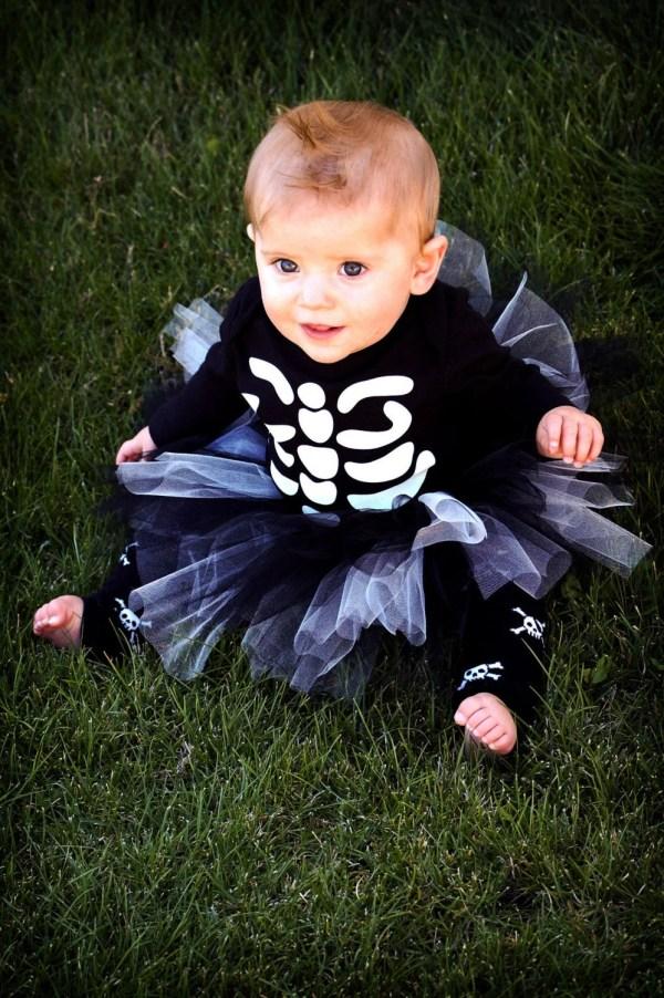 Baby Halloween Tutu Costume Skeleton
