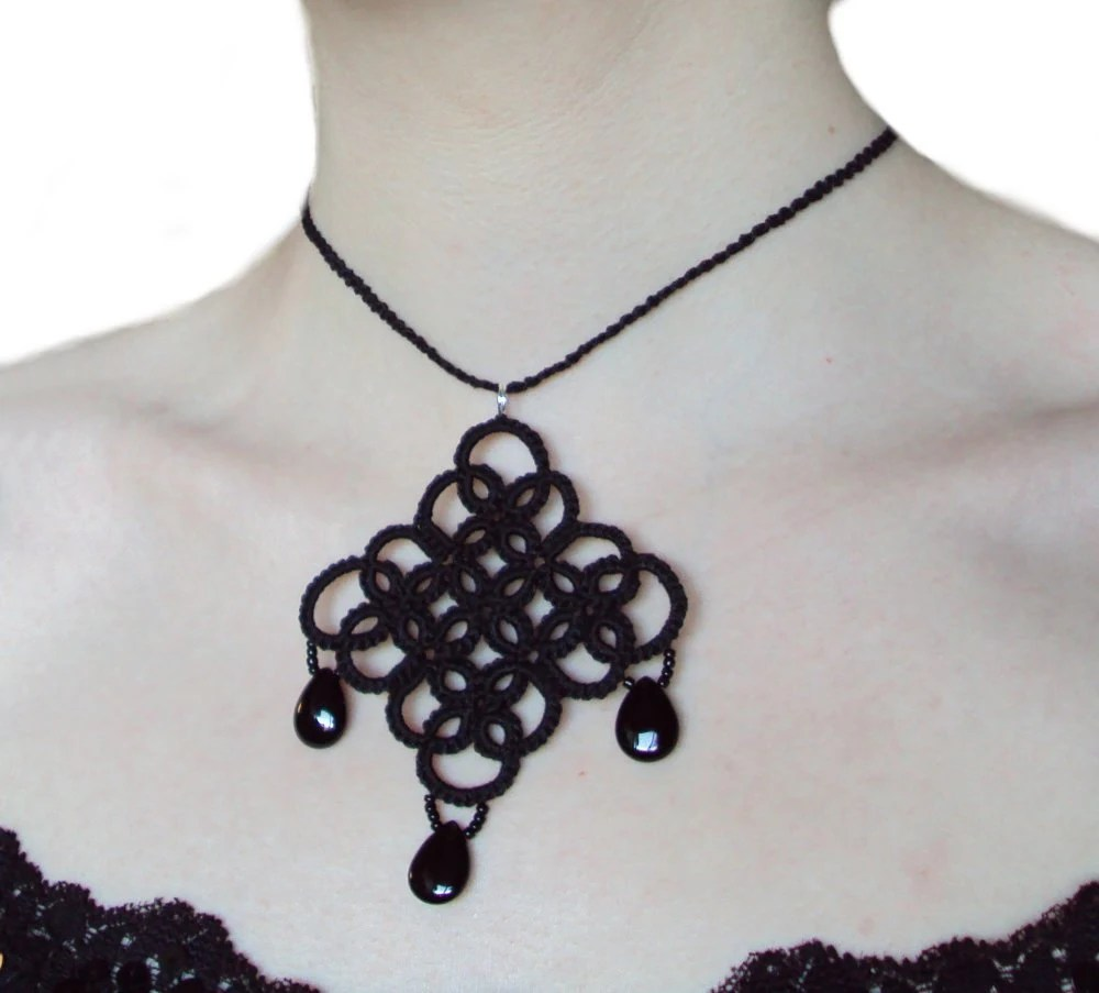 Tatted Goth Necklace - Katherine Royale