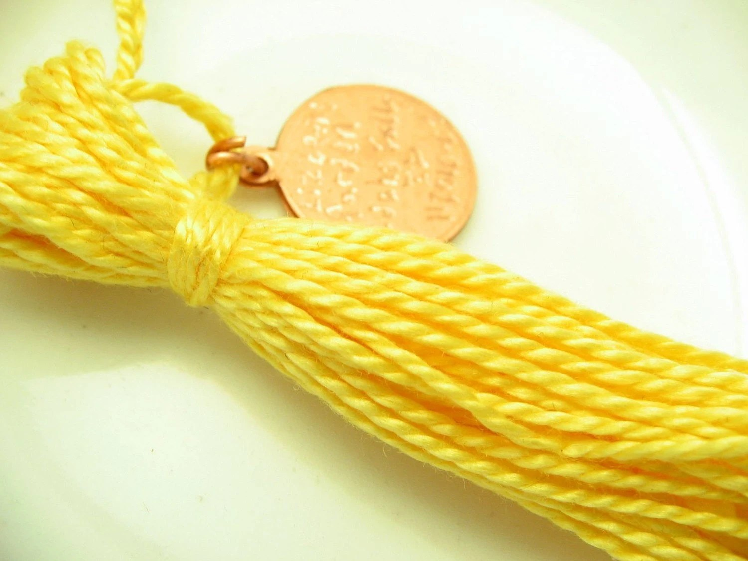 Yellow Cotton Tassel - lizbethsgarden
