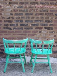 Vintage Toddler Chair in Spearmint by minthome on Etsy