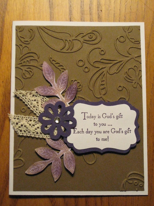 Religious Birthday Handmade Card Gods Gift Friendship