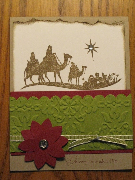 Christian Christmas Handmade Card Bethlehem Jesus Lord Friend