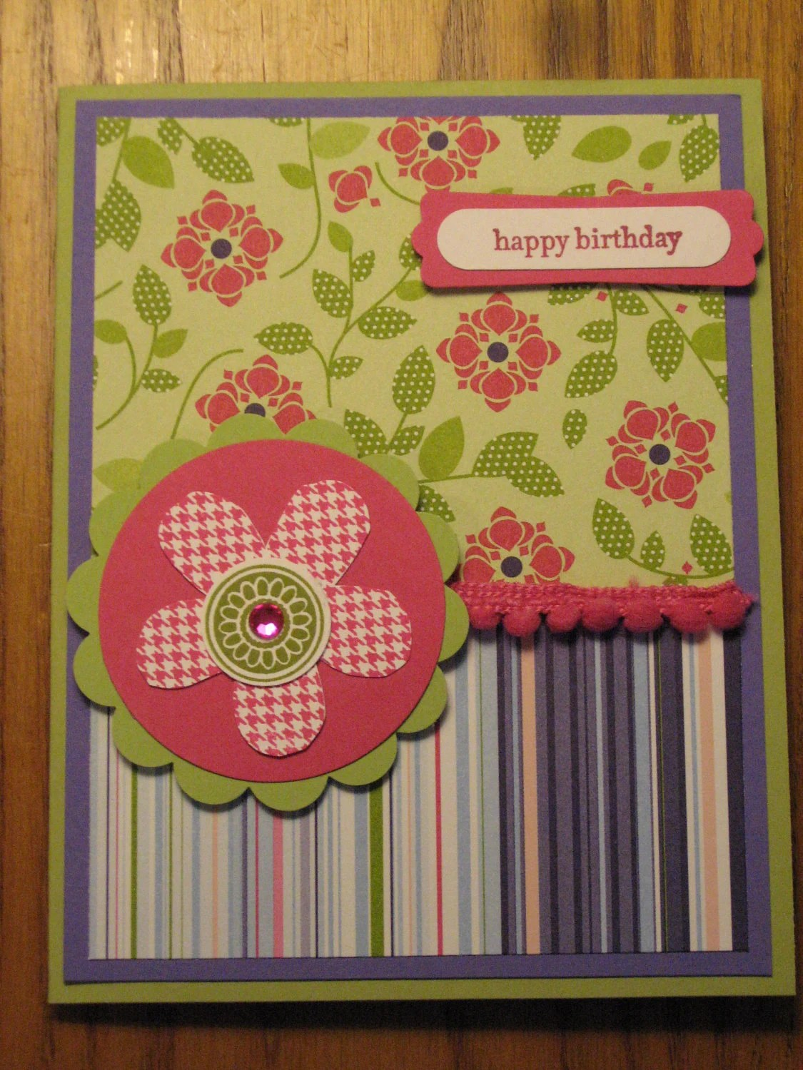 Birthday Thinking Of You Handmade Card Sister Daughter Friend