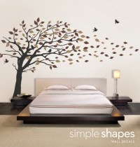 Vinyl Wall Art Decal Sticker Blowing Leaves Tree by ...