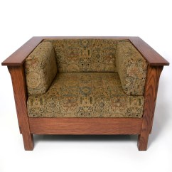 Arts And Crafts Style Chair Wedding Covers Shropshire Mission Prairie Stickley Panel Club Cube