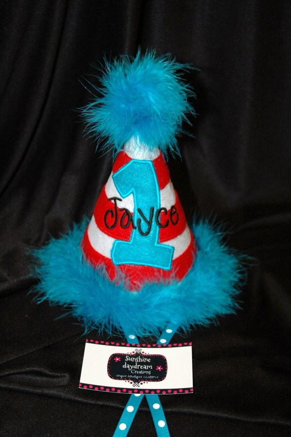 1st Birthday Party Hat Customized With