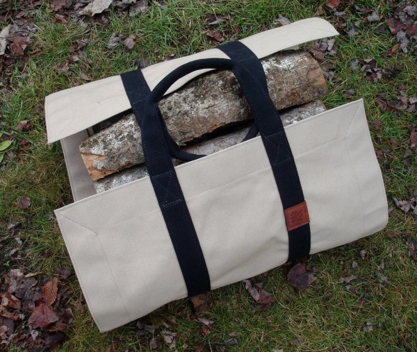 Firewood Carrier Canvas Tote Bag Wood