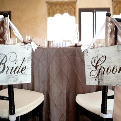 Wedding Bride And Groom Chairs Gothic Uk Chair Signs Or Thank You Wooden