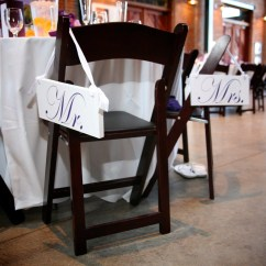 Mr And Mrs Chair Signs Euro Chairs For Rv Wedding By Ourhobbytoyourhome