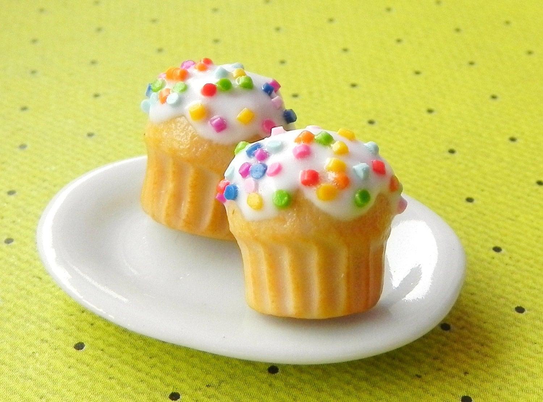 Vanilla Cupcake Post Earrings