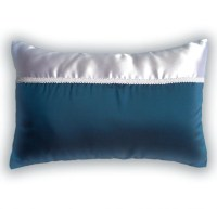 Blue White Decorative Lumbar Pillow Case 12 x 18 in CLAIRE