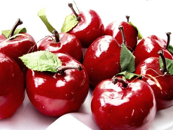 s listing red apple christmas ornaments set of