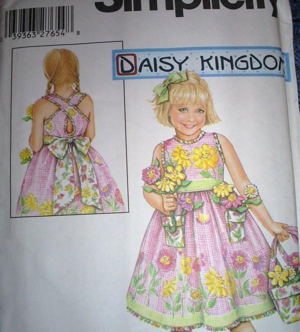 Easter Summer Dress And Purse Pattern Daisy Kingdom Uncut