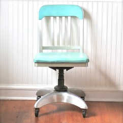 Aqua Desk Chair Hammock Stand Canada Mid Century General Fireproofing Office Atomic