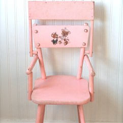Pink High Chairs Pier One Imports Dining Circa 1950s Wooden Doll Chair Cass Teddy By