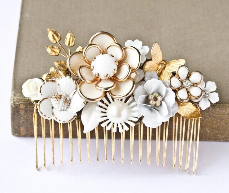 Bridal Hair Comb Vintage Hair Comb Wedding Hair Comb