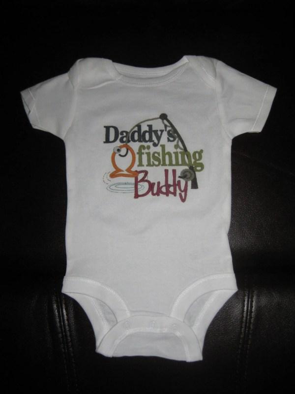 Daddy Baby Onesie Fishing