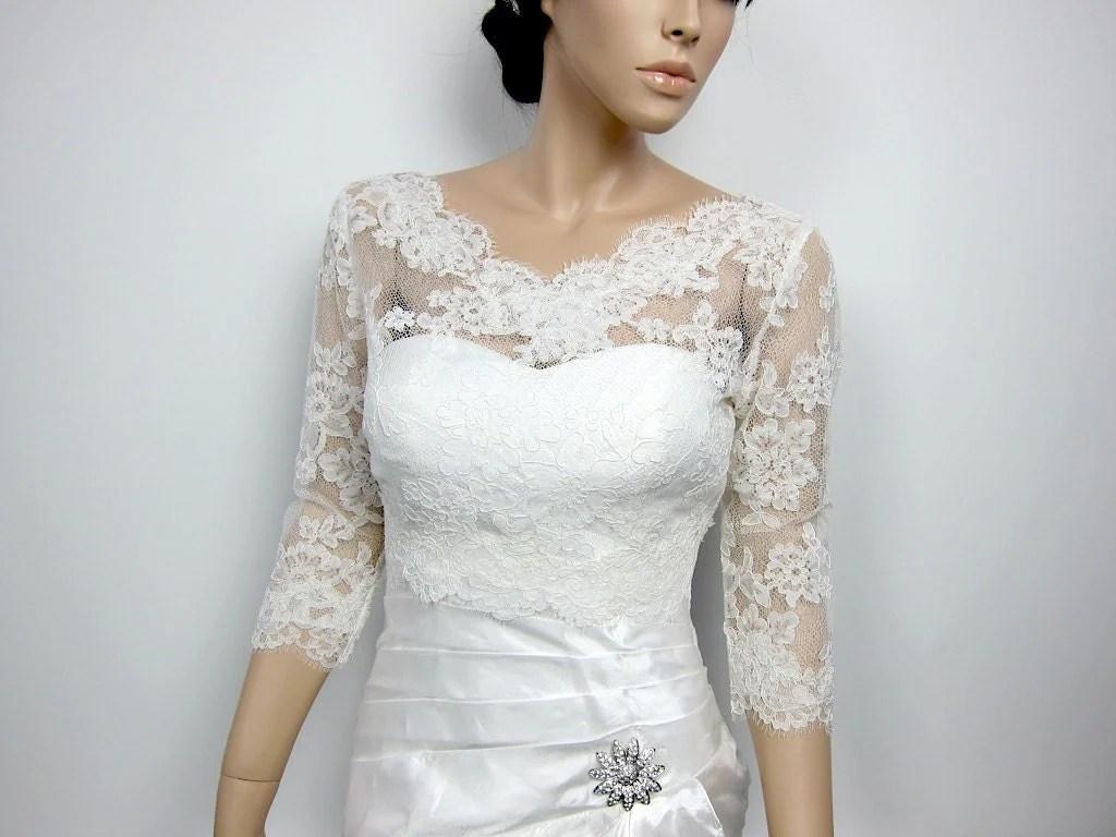 Lace Bolero Jacket Bridal Bolero Wedding Jacket Wedding