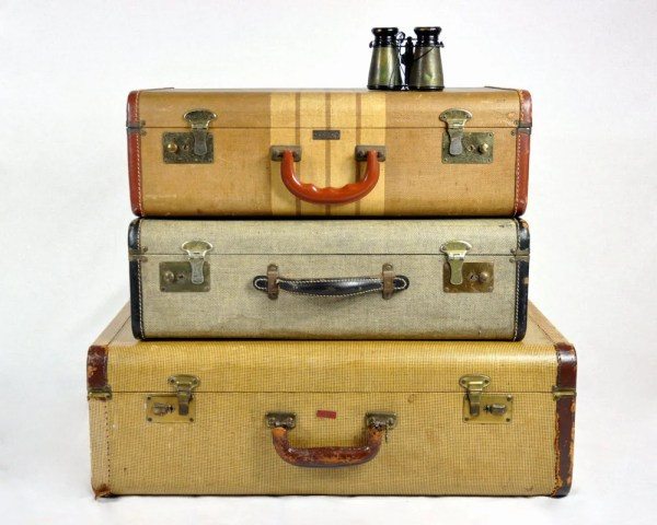Reserved Vintage Set Of 40' Suitcases Luggage