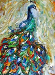 original painting peacock palette