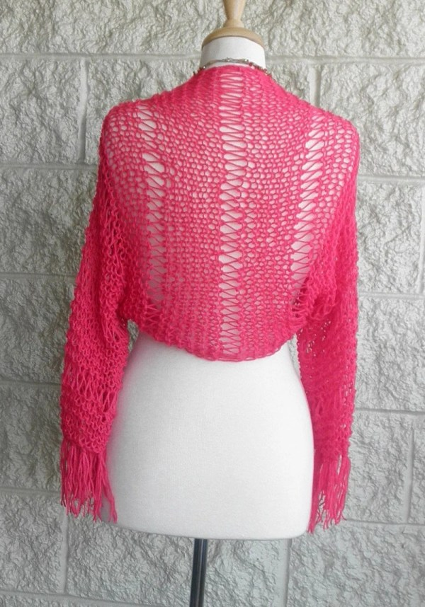 Pink Shrug Bolero Wedding Party Dress Cover