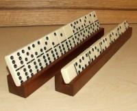 2 Rack Set Exotic African Sapele Wood Domino Holders