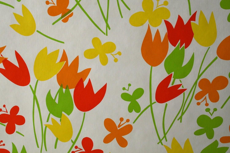 orange kitchen wallpaper mobile home faucets vintage bright retro mod modern vinyl wall paper