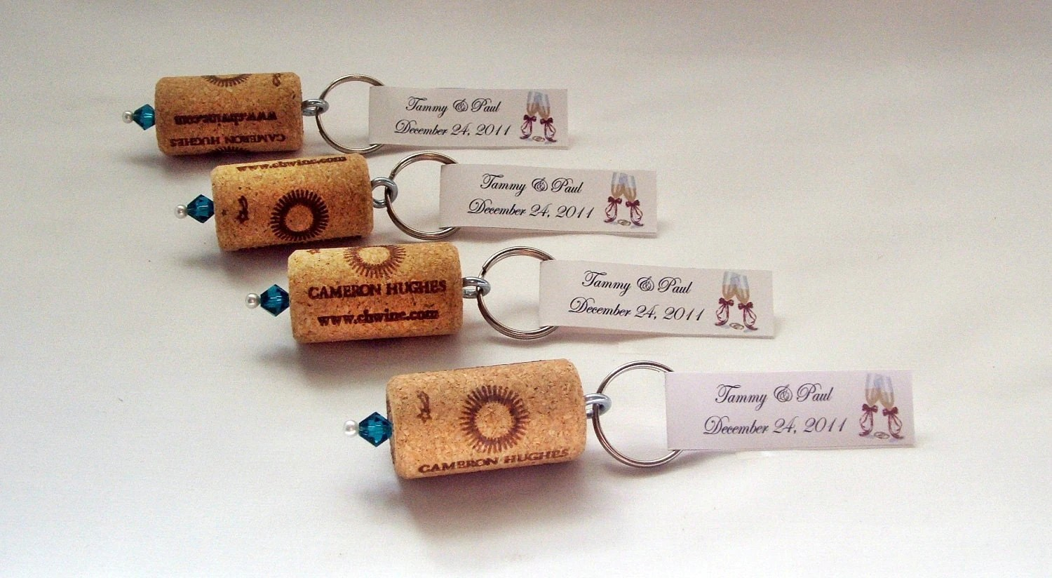 Wine Cork Keychain Favors Great Wedding Or Bridal Shower